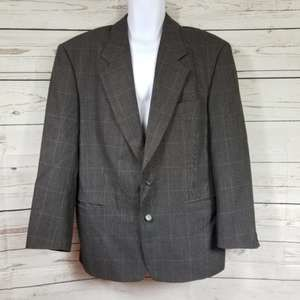 HUGO BOSS virgin wool button up suit jacket 42R